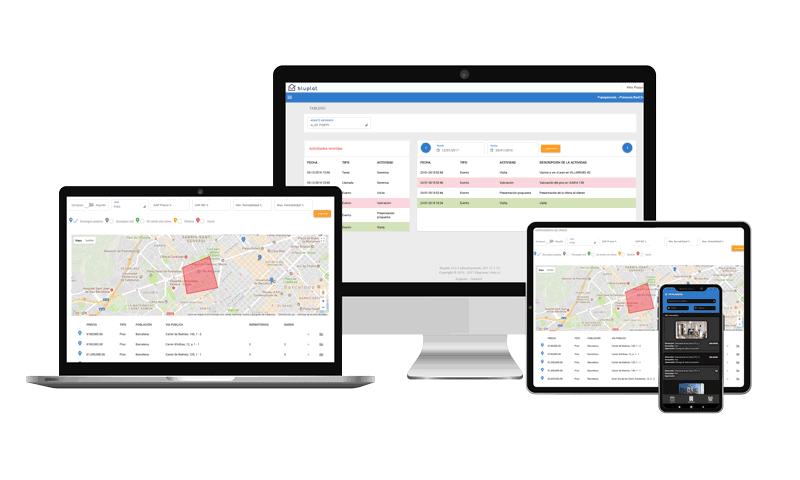 El CRM Bluplat te ofrece la mejor solución del mercado en gestión inmobiliaria